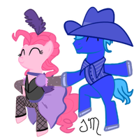 Pinkie Pie and Rob Stallion by JennMichelle