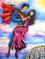Superman + Lois Lane by MissCosettePontmercy