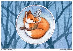 Sweet Fox Postcard by emla
