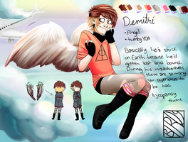 Demitri ref sheet thing yep by Captain-Hotpants