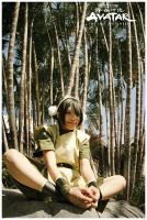 Avatar : Toph Bei Fong sit by beethy