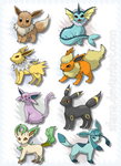 Eevee Evolution by silana