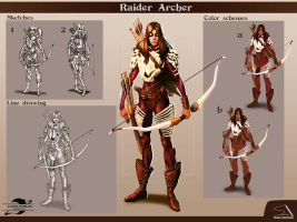 Raider Archer character sheet01 by RPGartist