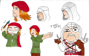 Assassin's Creed Sketch Dump by MidnightCootie