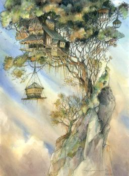 Hilltop Treehouse  by GabrielEvans