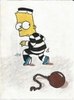Bart the fugitive by GrimaceCat