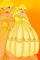 Donna as Belle by Winx-Bunny