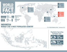Indonesia and World Population Infographic by astayoga