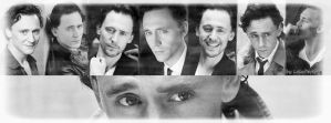Tom Hiddleston - Black and White Facebook No.2. by LuluDarling