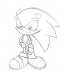 Sonic (sketch) by tails224