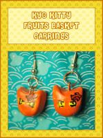 Kyo Kitty Earrings by querulousArtisan