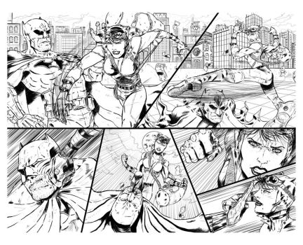 ''Catwoman'' Sample Pages 2+3 by Axel2396