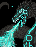 Tron Dragon Day 2 WIP update by Embers-Dragon47