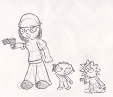 Meg, Stewie and Maggie by Quacksquared