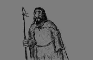 Random midnight neanderthal doodle by AnonymousLlama428