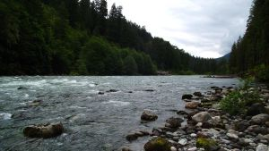 Old Sauk River Widescreen by cjosborn
