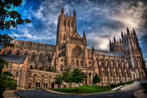 National Cathedral HDR Front by Tyler007