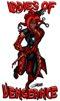 COMMISH: Ladies of Vengeance Logo by VAXION