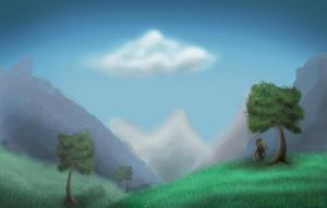 Mountain Tranquility by ScrayVyle