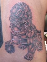Fu Dog Tattoo by johndevilman