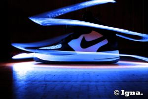 Nike Lightpainting ! by PythonIt