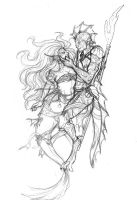 Starcrossed Lovers Sketch by shutterbones