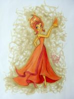 Flame Princess Re-imagined (Re-re-upload) by angelaaasketches