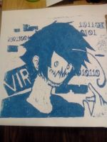 Just the Ink.(Linoleum Print) by Ask-TheCryaotic