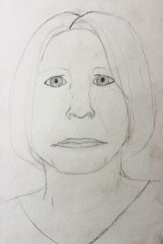 Portrait project 3/16: Mother WIP by Sabhira