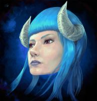 Horned Girl by Razputin93