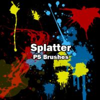 Splatter Brushes by petermarge