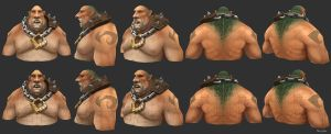 Lumbering Oaf Bust Diffuse/Wires by YBourykina