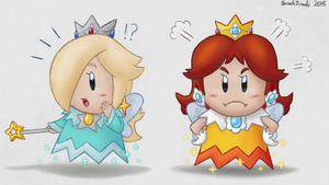 Art Academy - Sprixie Rosalina and Daisy by Sorachi-Jirachi
