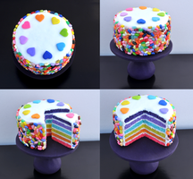 Jelly Bean Rainbow Cake 1:6 Scale by kingofthebutterflies