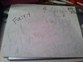 Fairy tail poster sketch by Dani-doodle