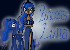 Mlp and Mlh - Princess Luna by monakaliza