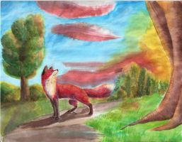 Fox Sunset by Joava