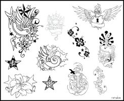 tattoo flash by reindas