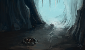 Ice Cave by LittleBird-Arts