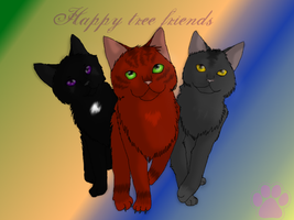 .:Warriors:. Happy tree friends _with Speedpaint_ by MichelleTheCat