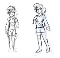 Female charater design by Kyosourade