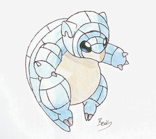 Alolan Sandshrew by DoctorPsyduck