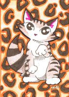 Funny tabby cat leopard print by KingZoidLord