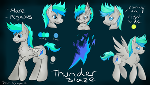 Reference for Thunder Blaze (Mlp OC) by CKittyKat98