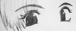 Manga Eyes- Old practice by Medicated-Kitty