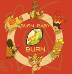 BURN BABY BURN (TSHIRT DESIGN) by Lilgreenfox