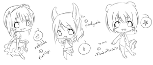 chibi sketches by lolipoploid