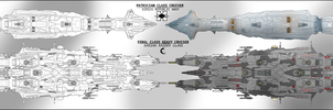 Feral Class Heavy Cruiser by Lineartbob