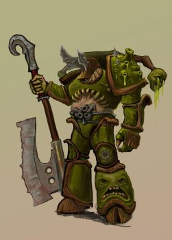 Chaos Space Marine of Nurgle by Baka-design