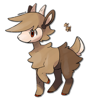 Goat fakemon by Kipine